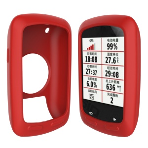 Flexible Silicon Protector Case Cover for Garmin Edge 800 / E810 - Red