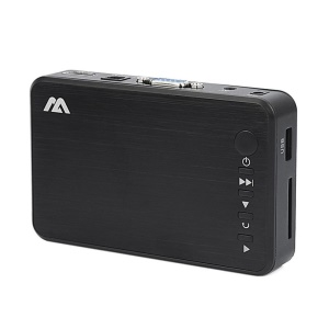 Mini Full HD Media Multimedia Player Autoplay 1080P USB External HDD SD U Disk - US Plug