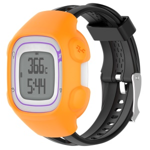 Soft Silicone Men Watch Case for Garmin Forerunner 15 / 10 - Orange