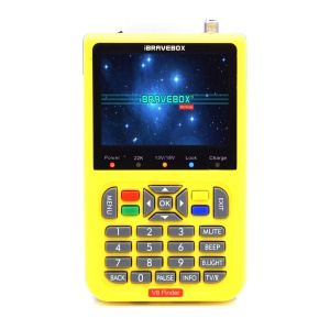 IBRAVEBOX V8 Finder 3.5-inch LCD Full HD DVB-S2 Satellite Finder Meter - Yellow / US Plug
