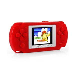 HKB-502 2-inch Colored LCD Screen Child Handheld Game Player with 268 Games - Red