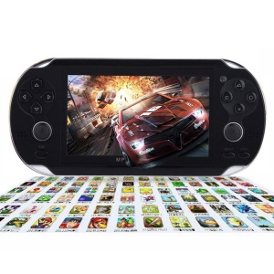 4.3-inch Screen Handheld Game Console with Media Player and Camera Built-in 2000 Games - Black
