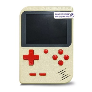 Portable Game Console Classic Gaming Player Built-in 400 Games - White