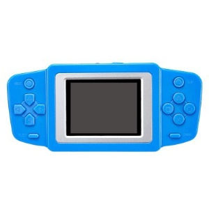 2.5-inch Vintage Retro Handheld Game Console Built-in 268 Games Support for FC Video Game - Blue