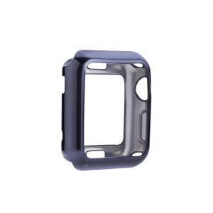 Flexible Electroplating TPU Anti-aging Watch Cover for Apple Watch Series 3 / 2 / 1 38mm - Black