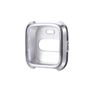 Flexible TPU Anti-aging Watch Casing Cover for Fitbit Versa - Silver