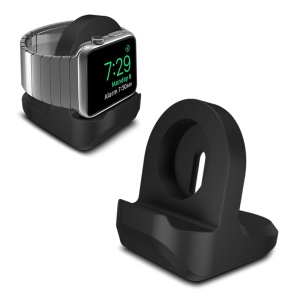 Supporto Di Ricarica In Silicone Per Apple Watch Series 3/2/1 38mm & 42 Millimetri - Nero