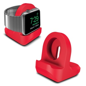 Anti-slip Silicone Charging Stand Holder for Apple Watch Series 3/2/1 38mm & 42mm - Red