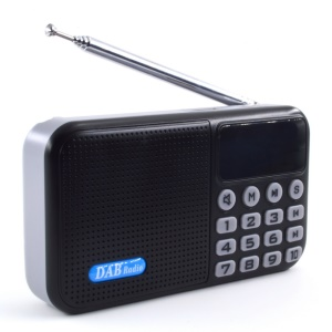 Portable Bluetooth DAB/DAB+ Digital Radio FM Player with Antenna Support USB Flash Disk / TF Card