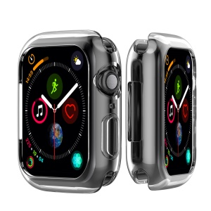 Flexible Soft Silicone Anti-aging Watch Case for Apple Watch Series 4 40mm - Transparent