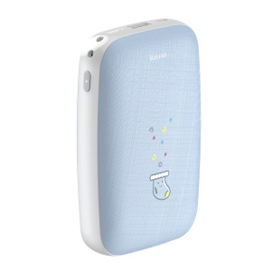 BASEUS M25N Hand Warmer External Power Bank 2-in-1 Design with 50cm Micro USB Cable for iPhone iPad Samsung Etc. - Blue