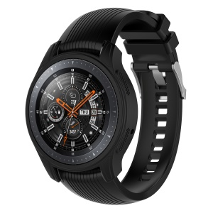 Silicone Smart Watch Protective Case for Samsung Gear S3 Frontier / Galaxy Watch 46mm - Black