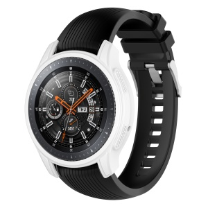 Silicone Smart Watch Protective Cover for Samsung Gear S3 Frontier / Galaxy Watch 46mm - White