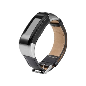 PU Leather Watch Strap with Connector and Tool for Garmin Vivosmart HR - Black