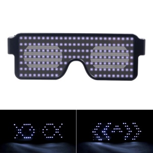 8 Modes Quick Flash LED Party Glasses USB Charge Luminous Glasses - White