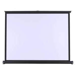50 inch (4:3) Floor Standing Projector Screen Portable Fold Out Roll Up Mobile Movie Screen Wedding Party Office Presentation