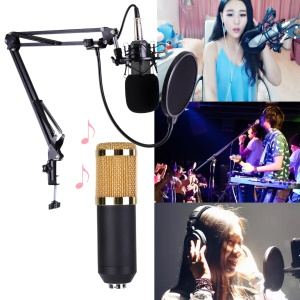 Studio Live Streaming Broadcasting Recording Condenser Microphone Stand Kit