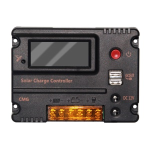 20A 12V/24V Auto Switch LCD Display PWM Solar Panel Battery Regulator Charge Controller CMG-2420A