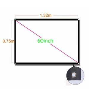 60-inch 16:9 PVC Projector Screen Home Theater/Cinema or Presentation Platform