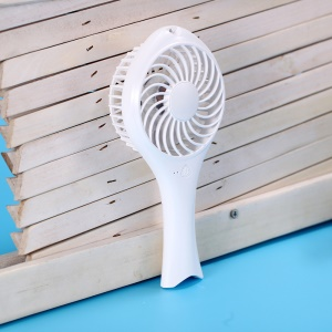 Fish Baby Handheld Cooling Fan USB Rechargeable with 2 Speeds Adjustable - White