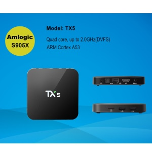TX5 Amlogic S905X KODI 16.1 Quad Core Android 6.0 Bluetooth TV Box WiFi Media Player 2+8GB - US Plug