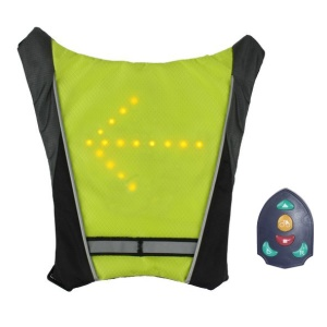 Backpack Bicycle Pilot Lamp Security LED Turn Signal Wireless Remote Control M-01 - Green