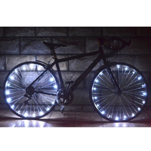 Waterproof LED Bicycle Safety Wheel Light - White