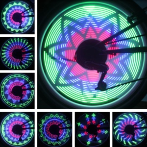 Waterproof Colorful 36-Pattern 32-LED Bicycle Cycling Wheel Spoke Light