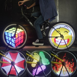Colorful 96-LED Waterproof IPX6 Bike Bicycle Wheel Light Lamp - EU Plug