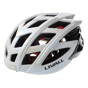 Smart Cycling Helmet with Bluetooth Turn Signal LED Support Hands-free Call / Intercom / SOS Alarm - White