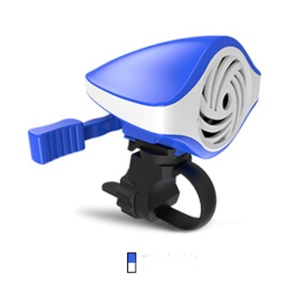 100dB Loud Bicycle Electronic Bell Bike Handlebar Ring Bell with 7 Ringtones - Blue + White