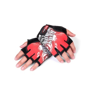 CTSMART 009 Pair of Cool Half Finger Gloves Cycling Bike Riding Climbing Sports Gloves - Red