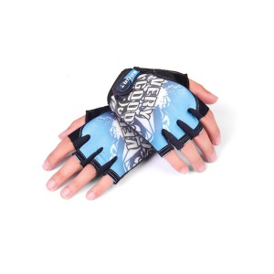 CTSMART 009 Pair of Outdoor Half-finger Sports Gloves for Cycling Mountain Climbing - Blue