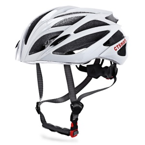 CTSMART Lightweight Outdoor Cycling Protective Helmet Breathable Mountain Bike Helmet - White