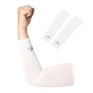 AOTU AT9023 Cycling Sleeves Cool Armwarmers Sleeves Arm Warmer UV Protection - White