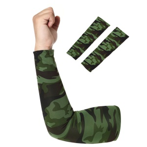 AOTU AT9023 Outdoor Cycling Sleeves Armwarmers Sleeves Arm Warmer UV Protection - Camouflage