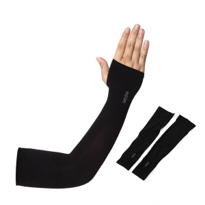 AOTU AT9038-1 1 Pair Cooling Sun Arm Sleeves UV Protection Sport Cycling Golf Long Sleeves - Black