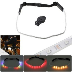 Rechargeable Bicycle LED Warning Light Belt Remote Control Bicycle Security LED Reflective Belt