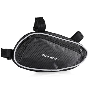 SAHOO 2L Bicycle Bike Tube Triangle Storage Bag - Black
