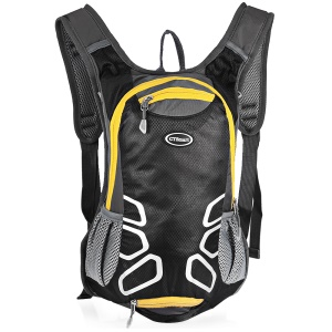 CTSMART 1701 Multi-function 15L Outdoor Cycling Hiking Backpack with Whistle - Black