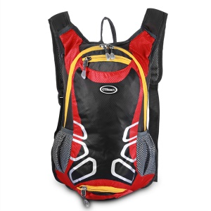 CTSMART 1701 15L Outdoor Cycling Hiking Waterproof Backpack with Whistle - Red