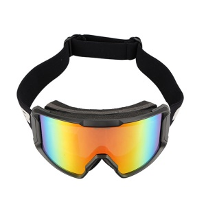GUB 8000 Professional Outdoor Sports Double-layer Wind-proof Anti-fog Ski Glasses Warm Spherical Glass Goggle - Green Lens