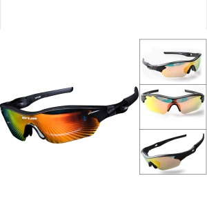 GUB 5300 Sports Polarized Sunglasses Cycling Bicycle Glasses UV400 Sunglasses - Black
