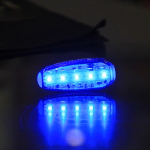 GUB M-26 5 LEDs 100LM USB Charging Bike Taillight Safety Warning Rear Lamp Bicycle Accessory - Blue Light