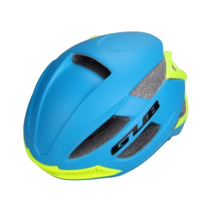 GUB F66 Mountain Road Bicycle Protective Helmet, Head Circumference: 58-62cm - Blue / Fluorescent Yellow