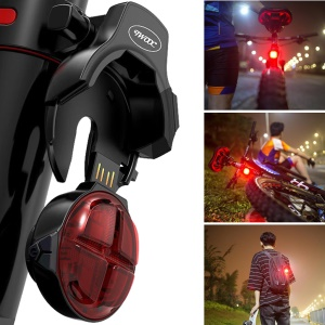T-003 Bicycle Smart Brake Sensor Tail Light USB Rechargeable Waterproof Cycling Safety Rear Light