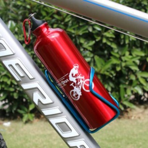 750ML Bicycle Cycling Aluminum Alloy Cup Water Bottle - Red