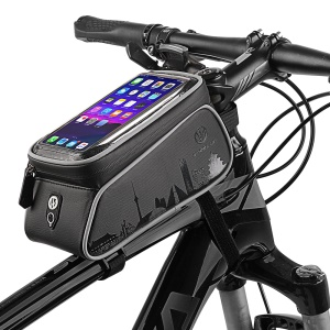 WHEEL UP 6-inch Cycling Front Tube Bag Waterproof Touch Screen Phone Bag