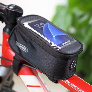 ROSWHEEL 4.8inch Bicycle Top Tube Bag for iPhone 6 6s (12496M-C5) - Black