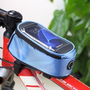 ROSWHEEL 4.8inch Bicycle Top Tube Bag for iPhone 6 6s (12496M-C5) - Black3